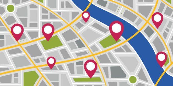 Mapa de ejemplo de la ruta que empleamos en cada localidad
