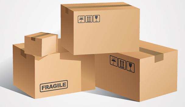 Cajas de distintos tamaños para embalar objetos y menaje