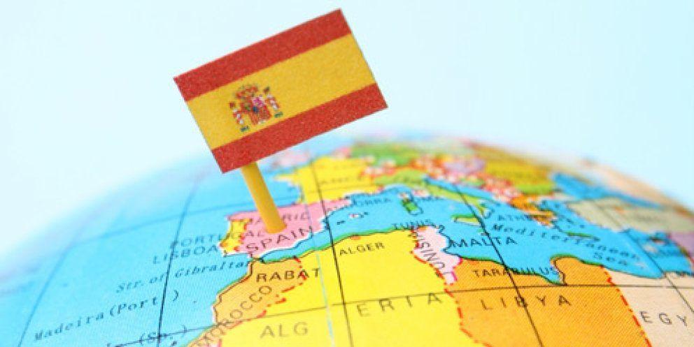 Mapa mundi señalizando España como destino de extranjeros