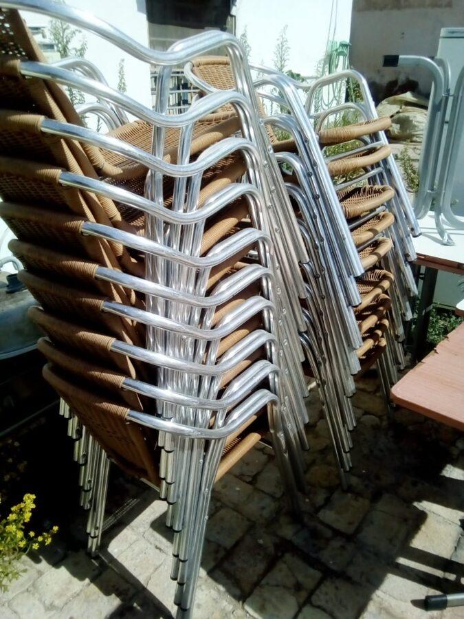 Sillas de aluminio para bar