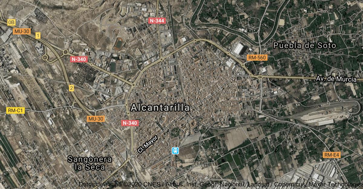 Foto satelital de Alcantarilla