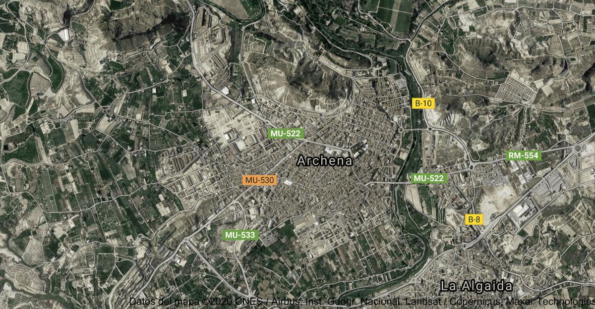 Foto satelital de Archena