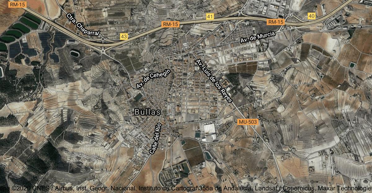 Foto satelital de Bullas