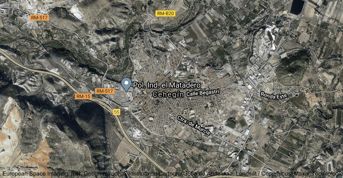 Foto satelital de Cehegín