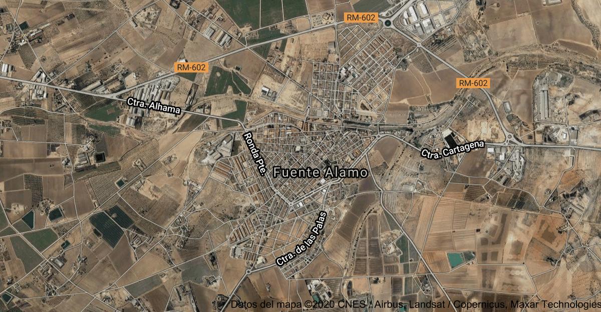Foto satelital de Fuente Álamo