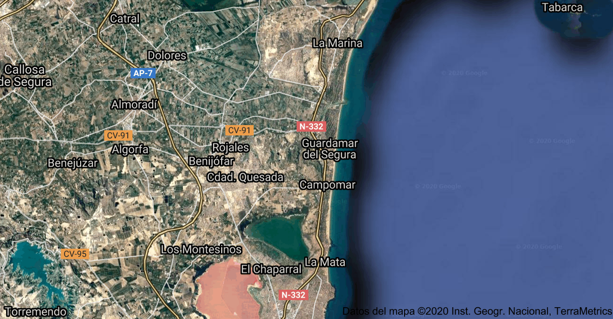 Foto satelital de Guardamar del Segura