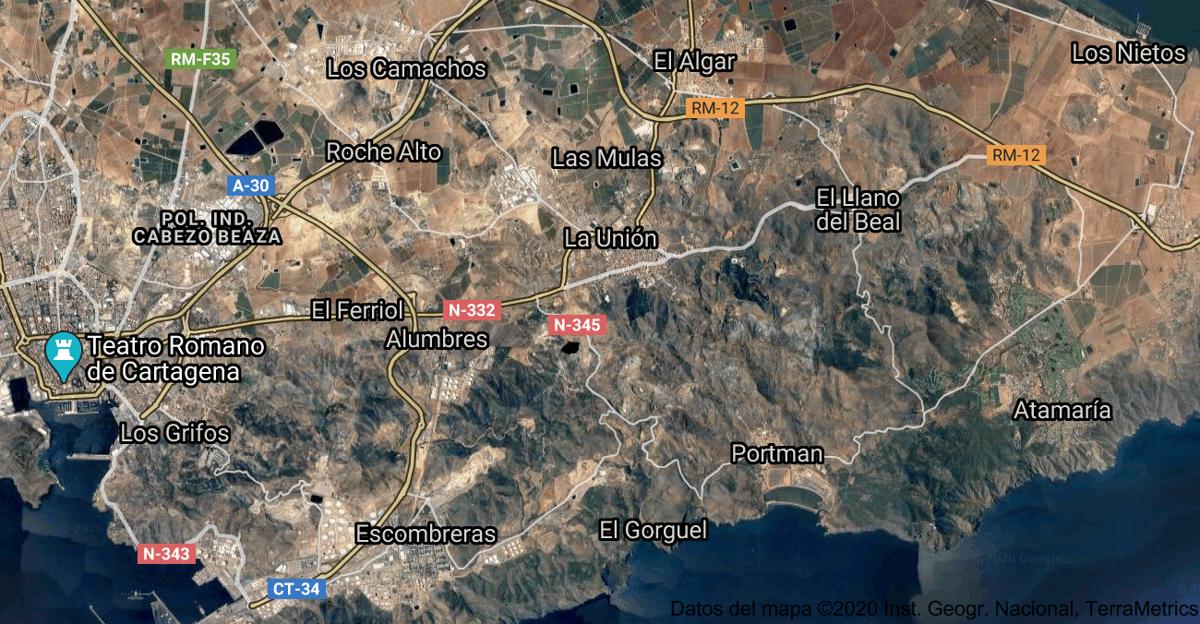 Foto satelital de La Unión