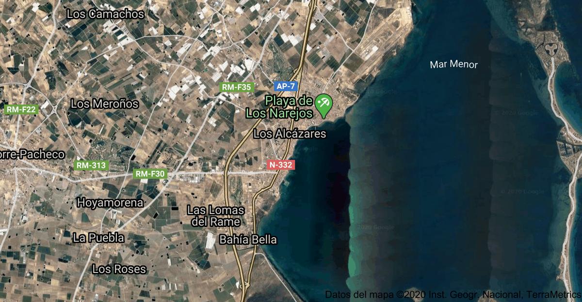 Foto satelital de Los Alcázares