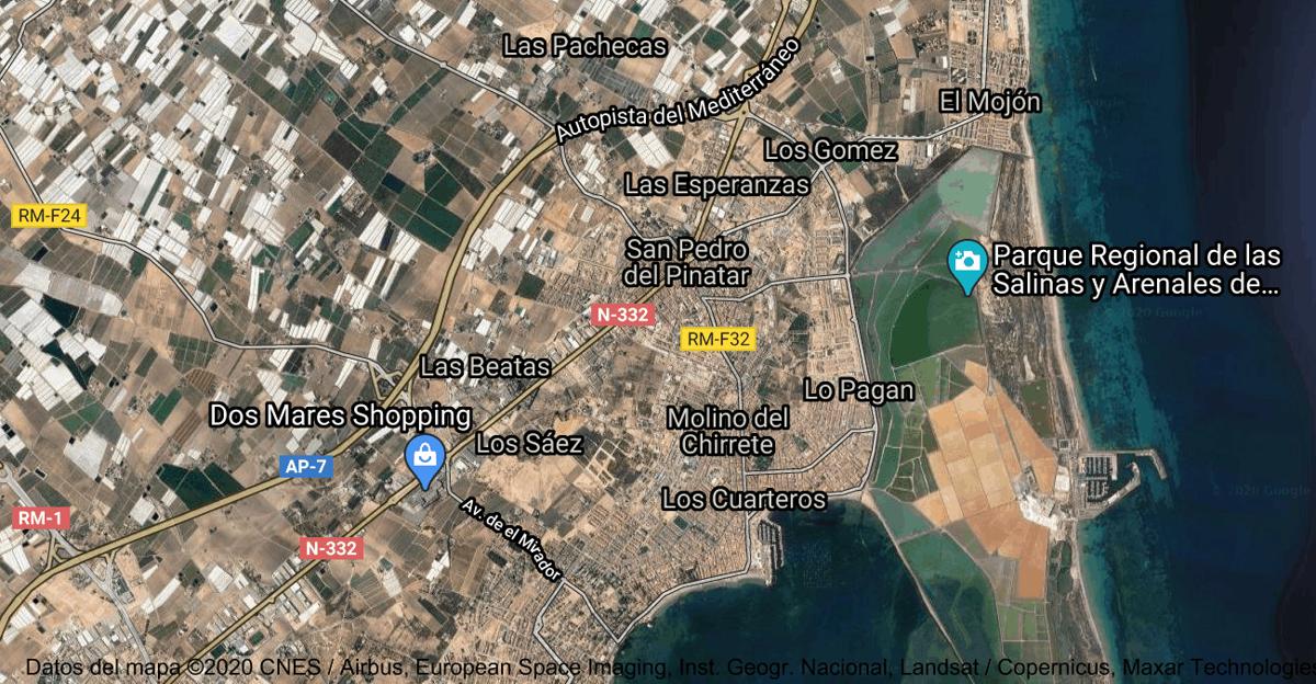 Foto satelital de San Pedro del Pinatar