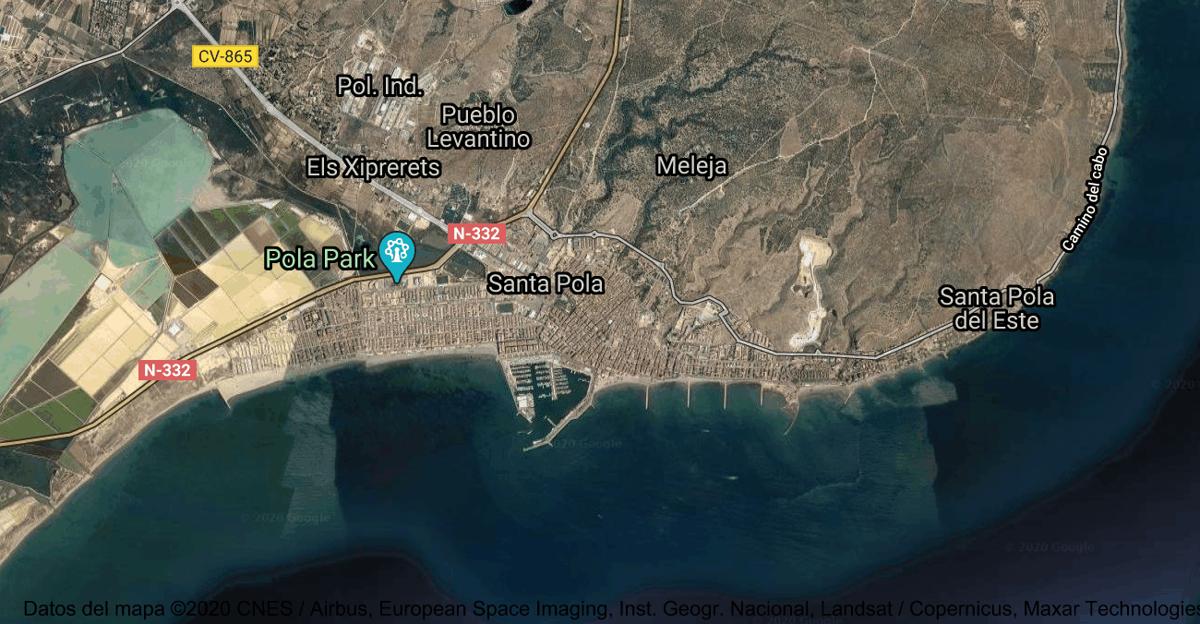 Foto satelital de Santa Pola