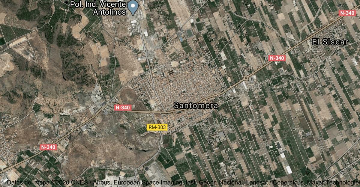 Foto satelital de Santomera